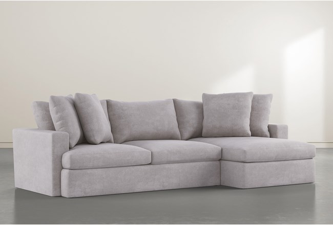 """Grand Down 2 Piece 125"""" Sectional With Right Arm Facing Chaise - 360"""