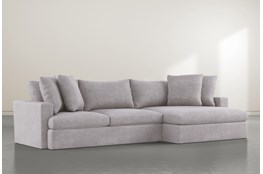 Grand Down 2 Piece Sectional With Right Arm Facing Oversized Chaise