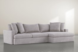 """Grand Down 2 Piece 139"""" Sectional With Right Arm Facing Oversized Chaise"""
