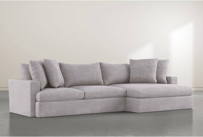 Grand Down 2 Piece Sectional With Right Arm Facing Oversized Chaise - 360