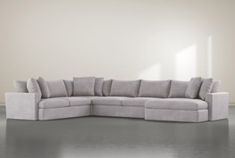 """Grand Down 4 Piece 182"""" Sectional With Right Arm Facing Oversized Chaise"""