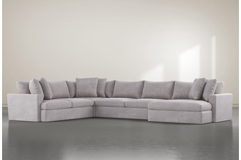 SP KIT-GRAND DOWN 4PC SECTIONAL W/RAF OVERSIZED CHAISE