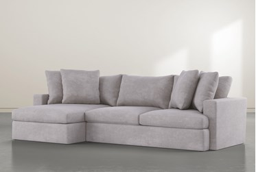 """Grand Down 2 Piece 125"""" Sectional With Left Arm Facing Chaise"""
