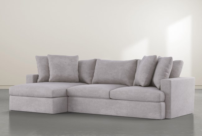 """Grand Down 2 Piece 125"""" Sectional With Left Arm Facing Chaise - 360"""