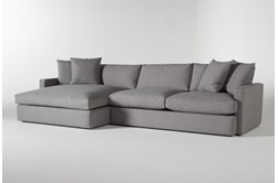 "Grand Down 2 Piece 139"" Sectional With Left Arm Facing Oversized Chaise"