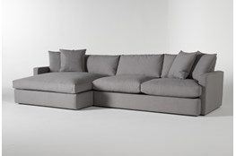 """Grand Down 2 Piece 139"""" Sectional With Left Arm Facing Oversized Chaise"""