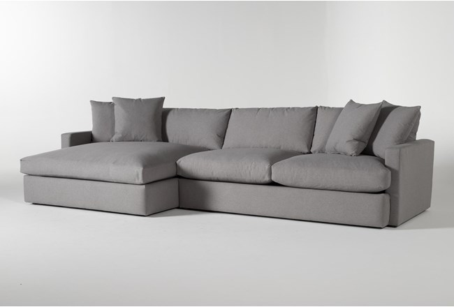 "Grand Down 2 Piece 139"" Sectional With Left Arm Facing Oversized Chaise - 360"