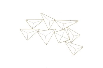 Wall Decor Gold Geotriangle
