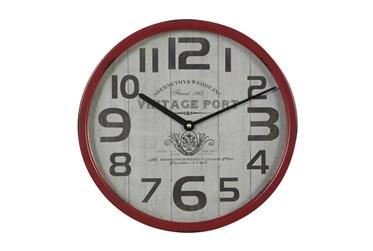 Wall Clock Red Rim