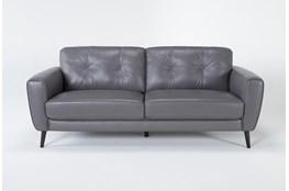 Benita Sleet Leather Sofa