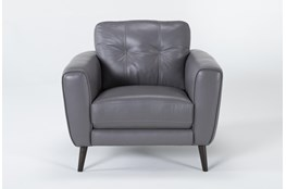 Benita Sleet Leather Chair