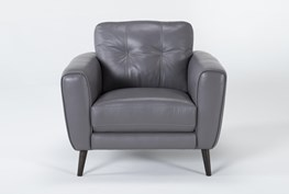 Benita Sleet Leather Chair