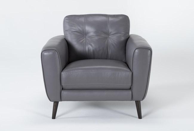 Benita Sleet Leather Chair - 360