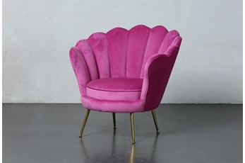 Cerise Scallop Accent Chair