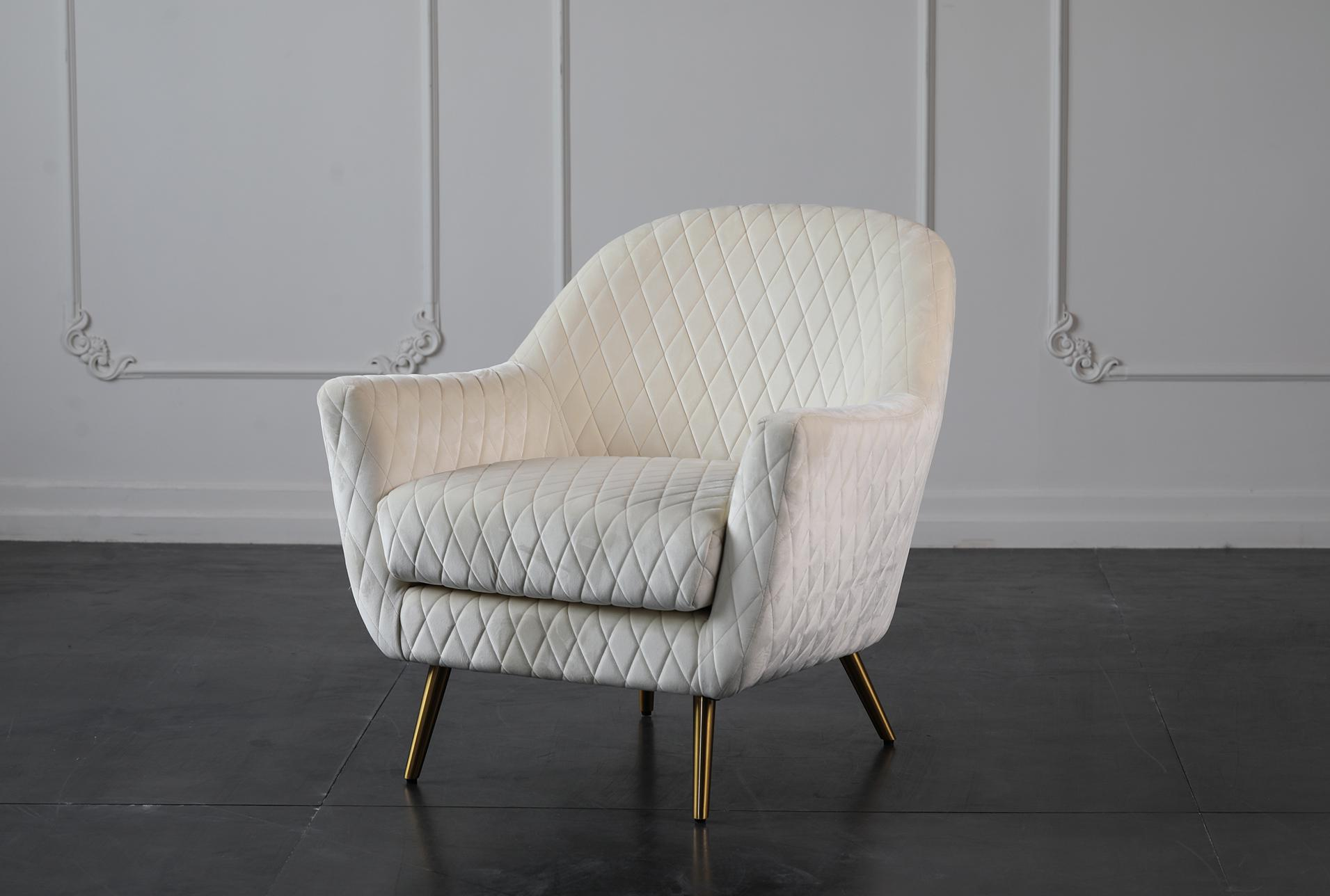 Ivory Quilted Accent Chair Living Spaces