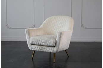 Ivory Quilted Accent Chair