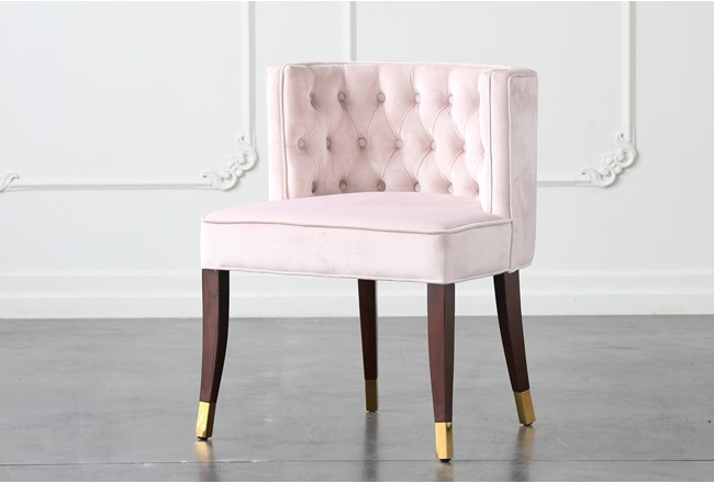 Blush Velvet Dining Chair - 360