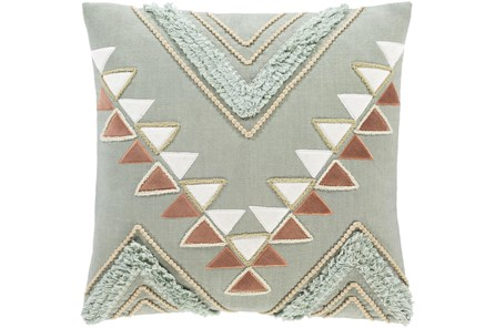 Accent Pillow-Boho Mint/Rust 18X18 - Main