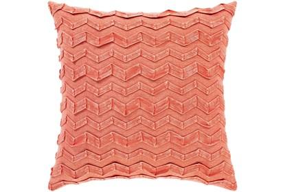 Accent Pillow Zig Zag Tangerine 18x18 Living Spaces