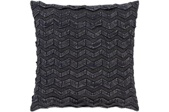 Accent Pillow-Zig Zag Black 18X18