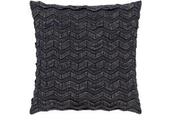 Accent Pillow-Zig Zag Black 18X18