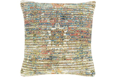 Accent Pillow-Jute Traditional Multi Color 18X18 - Main