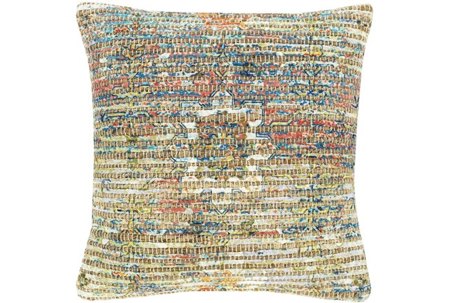 Accent Pillow-Jute Traditional Multi Color 18X18 - 360