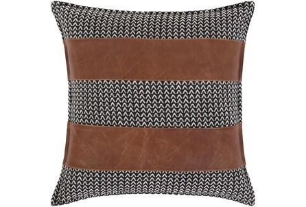 Accent Pillow-Herringbone & Leather Stripes 20X20 - Main