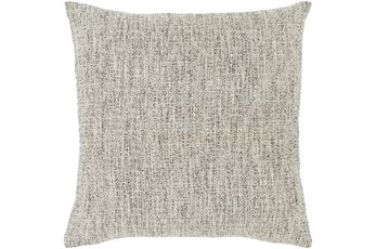 Accent Pillow-Metallic Tweed Grey 22X22