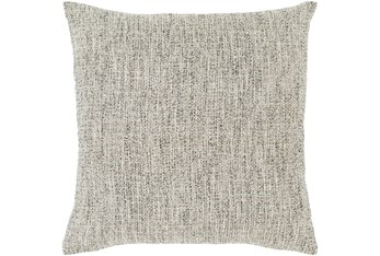 Accent Pillow-Metallic Tweed Grey 22X22