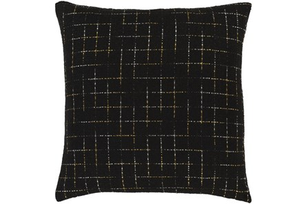 Accent Pillow-Metallic Grid Black/Gold 20X20 - Main