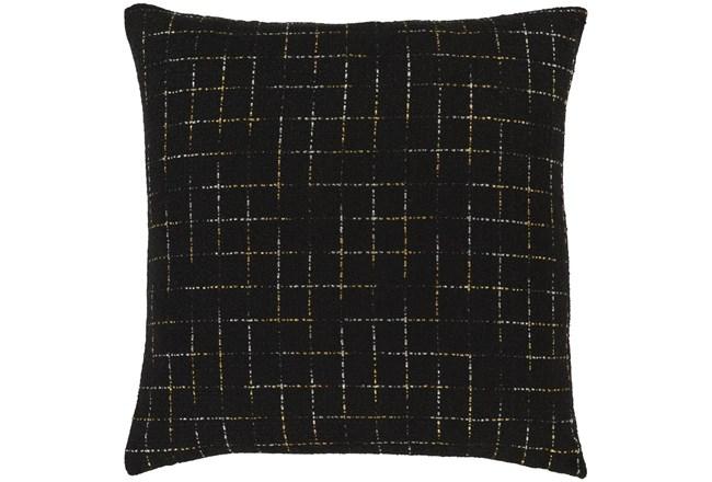 Accent Pillow-Metallic Grid Black/Gold 20X20 - 360