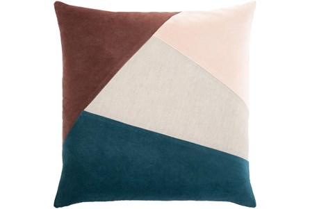 Accent Pillow-Color Block Teal/Rust 18X18 - Main