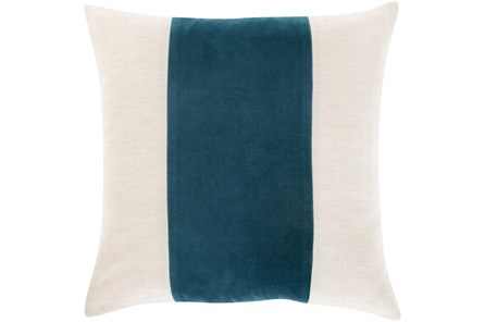 Accent Pillow-Color Band Teal 20X20 - Main