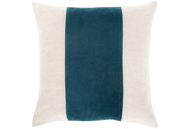 Accent Pillow-Color Band Teal 20X20 - 360