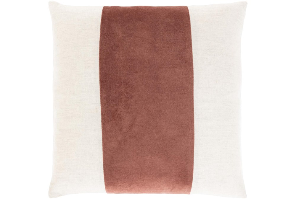 Accent Pillow-Color Band Rust 20X20