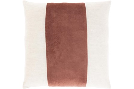 Accent Pillow-Color Band Rust 20X20 - Main