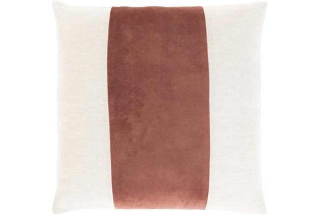 Accent Pillow-Color Band Rust 20X20 - 360