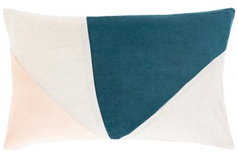 Accent Pillow-Color Block Teal/Blush 13X20