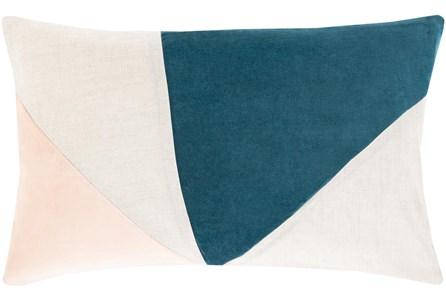 Accent Pillow-Color Block Teal/Blush 13X20 - Main