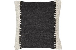 Accent Pillow-Top Stitch Black 20X20