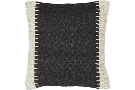 Accent Pillow-Top Stitch Black 20X20 - Main