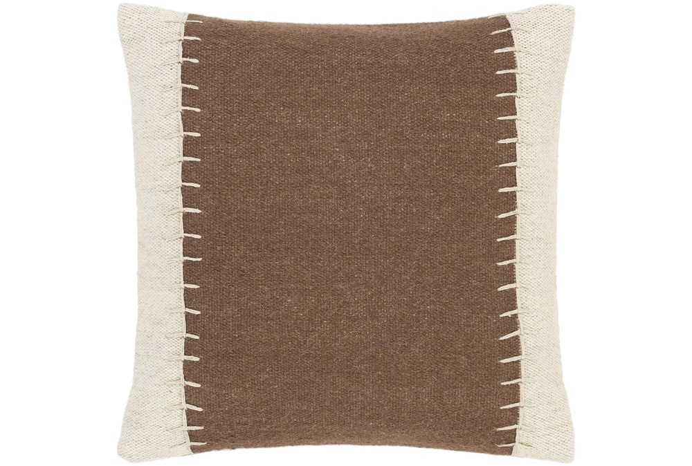 Accent Pillow-Top Stitch Cognac 20X20