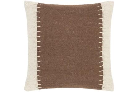 Accent Pillow-Top Stitch Cognac 20X20 - Main