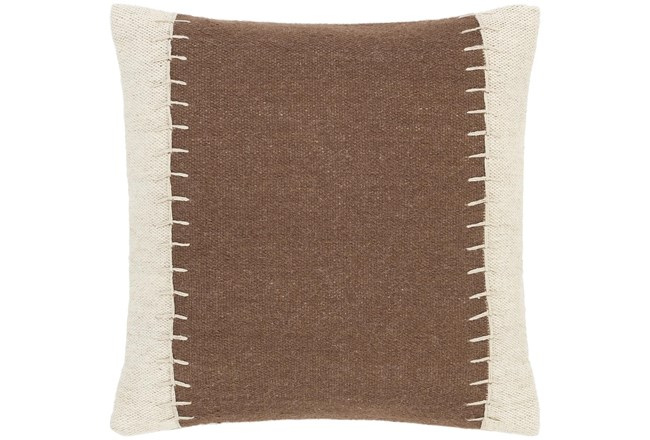 Accent Pillow-Top Stitch Cognac 20X20 - 360