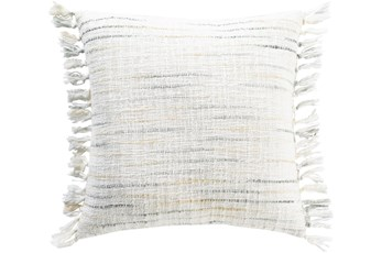 Accent Pillow-Side Fringe Soft Blue  20X20