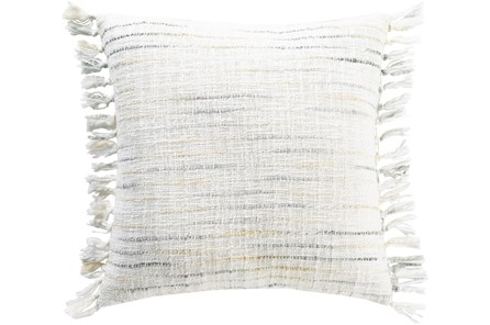 Accent Pillow-Side Fringe Soft Blue  20X20 - Main