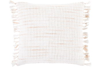 Accent Pillow-Side Fringe Soft Coral  20X20