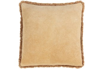 Accent Pillow-Brush Fringe Camel 20X20