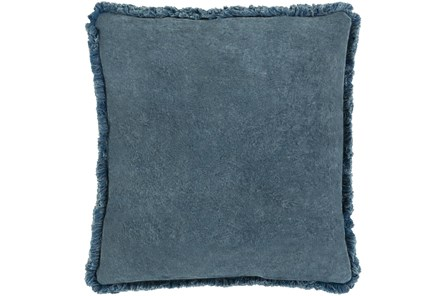 Accent Pillow-Brush Fringe Slate 20X20 - Main